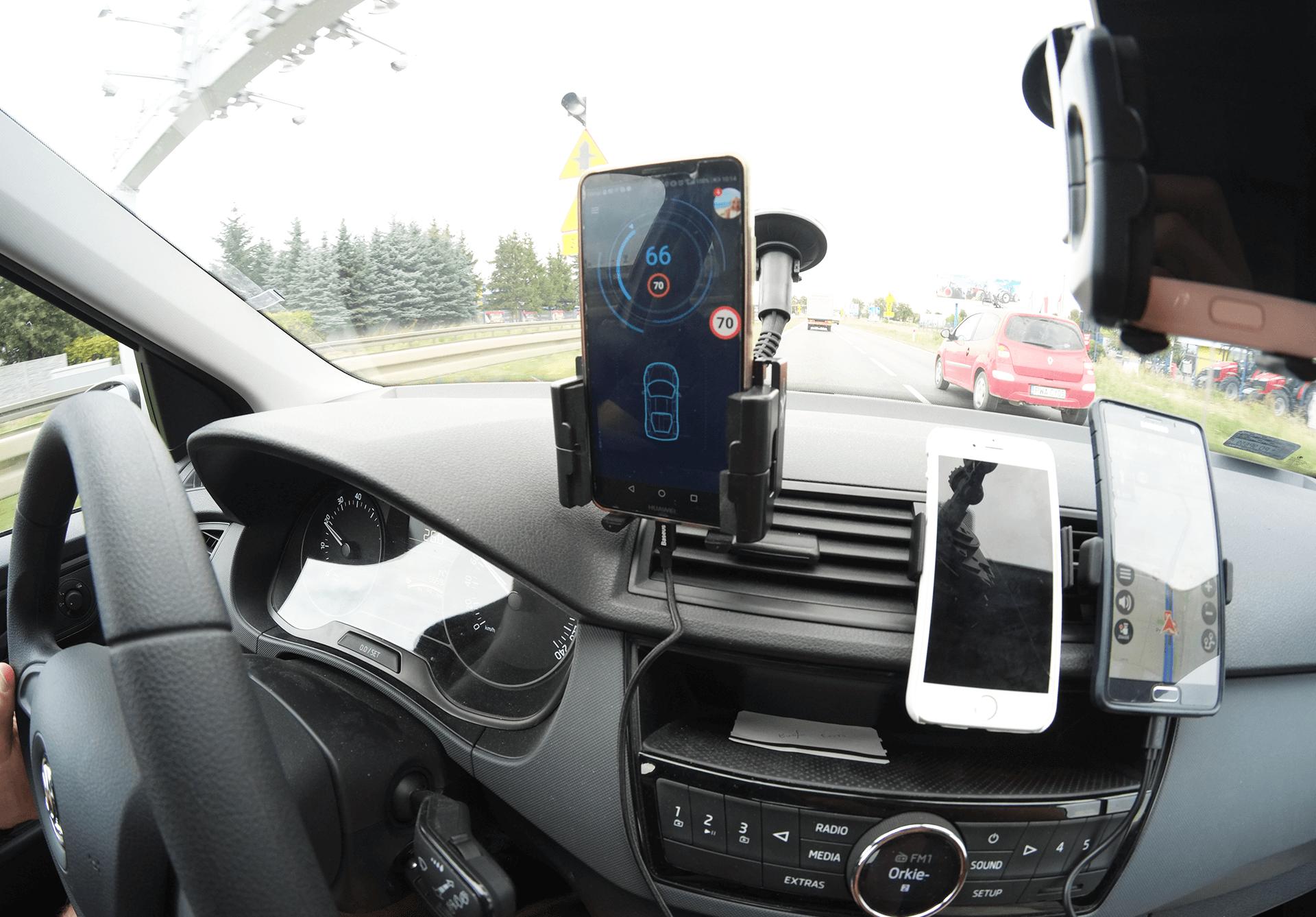 Monitoring dynamicznego stylu jazdy podczas testu