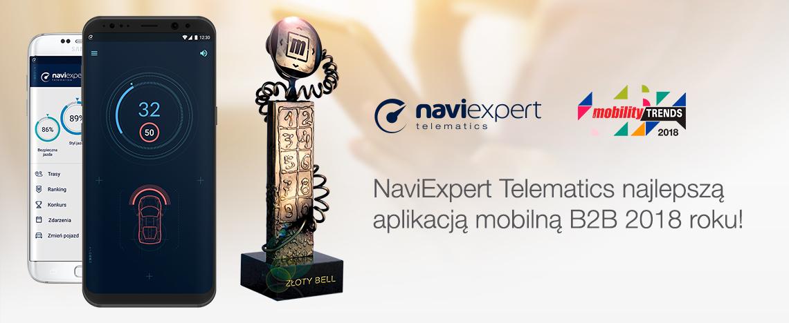 Złoty Bell za najlepszą aplikację B2B roku 2018 dla NaviExpert...